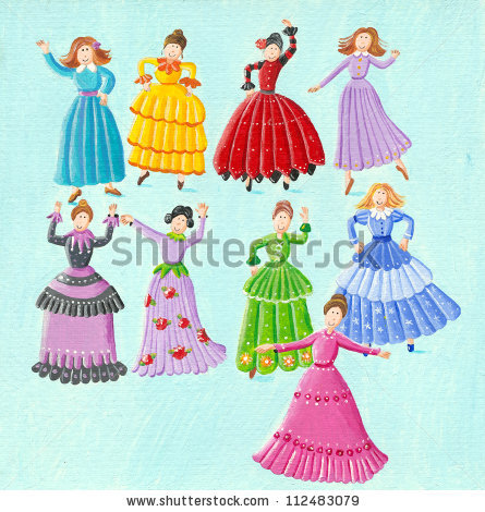9 Ladies Dancing Stock Photos, Royalty.