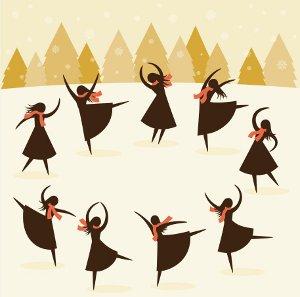 twelve #days #christmas #nine #ladies #dancing.