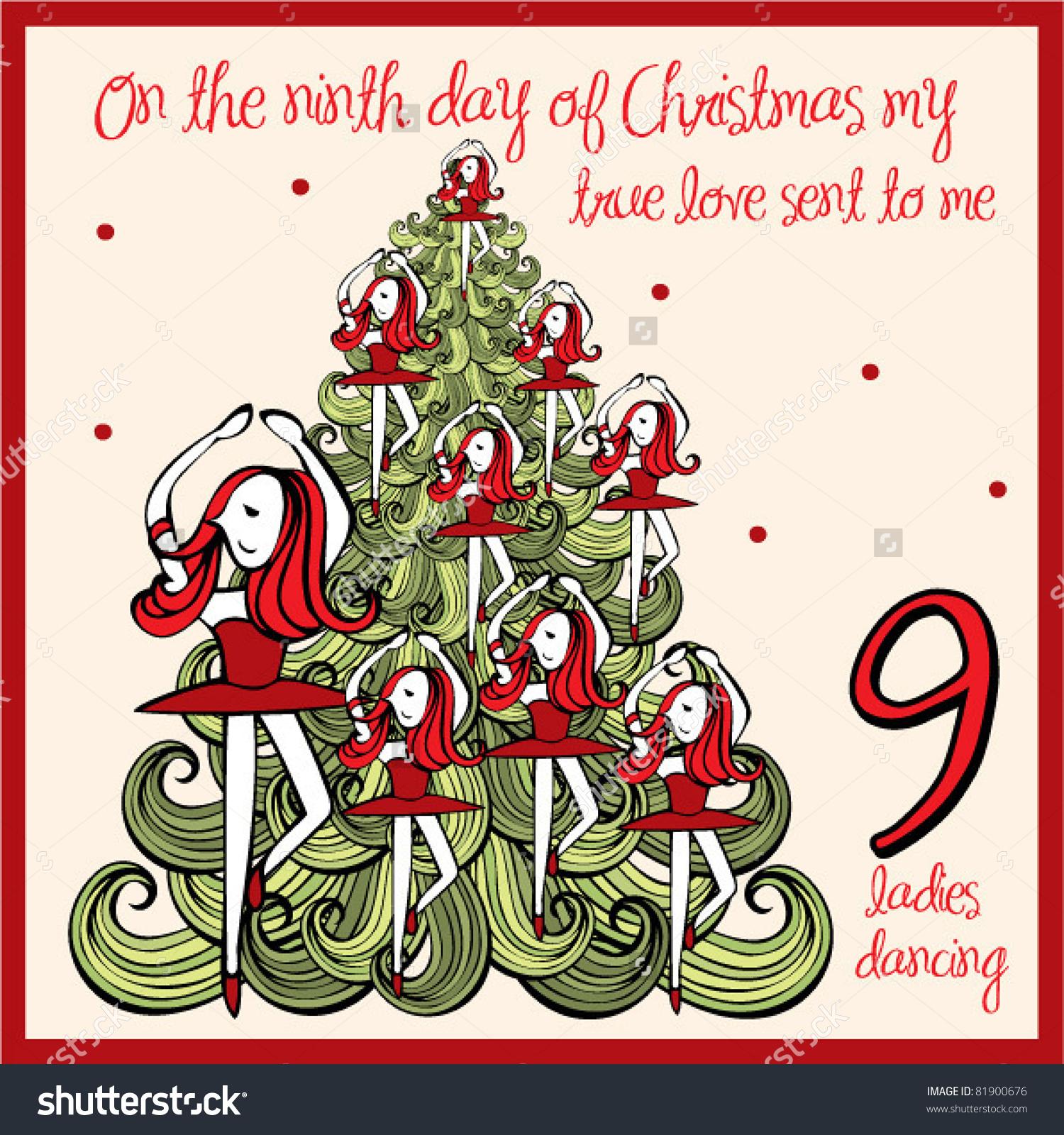 Similiar Nine Ladies Dancing Christmas Carol Keywords.