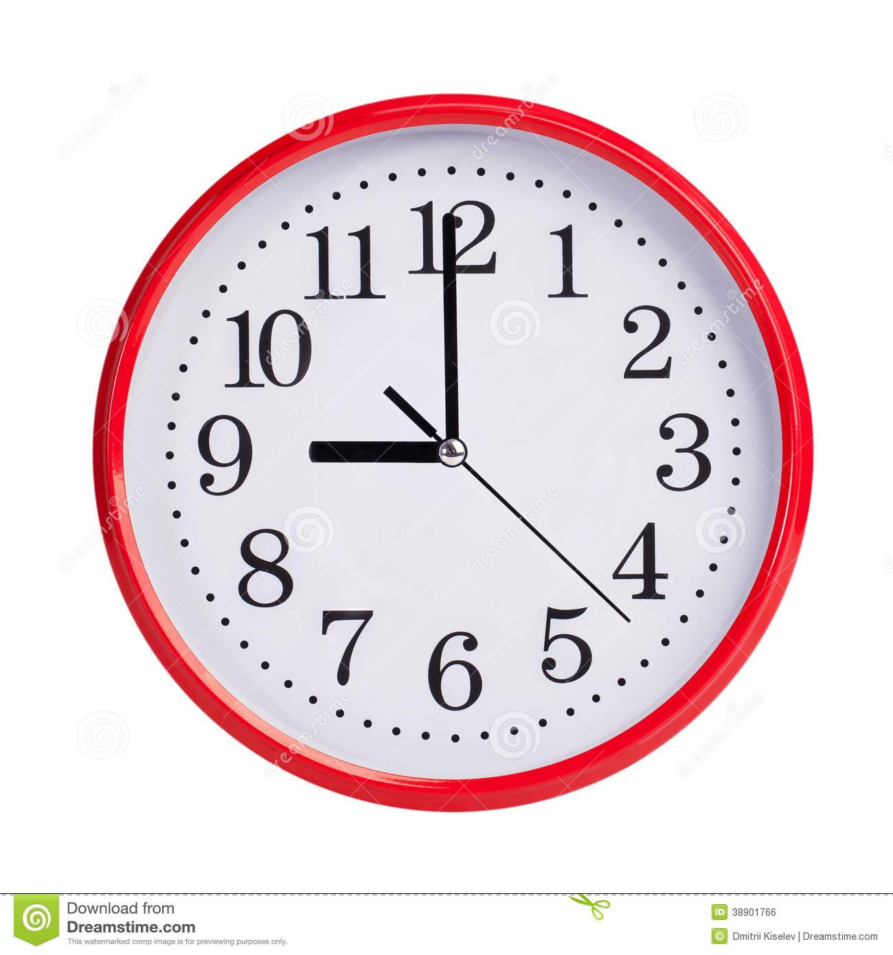 Clipart 9 O Clock.