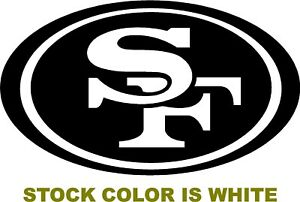 Details about SF 49ers OVAL Logo Decal vinyl sticker san francisco football  car NFL Niners.