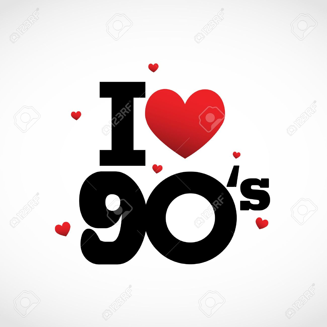 I Love 90's Illustration Royalty Free Cliparts, Vectors, And Stock.