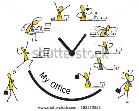 Abstract Background On Businessman Running Between Stock Vector.