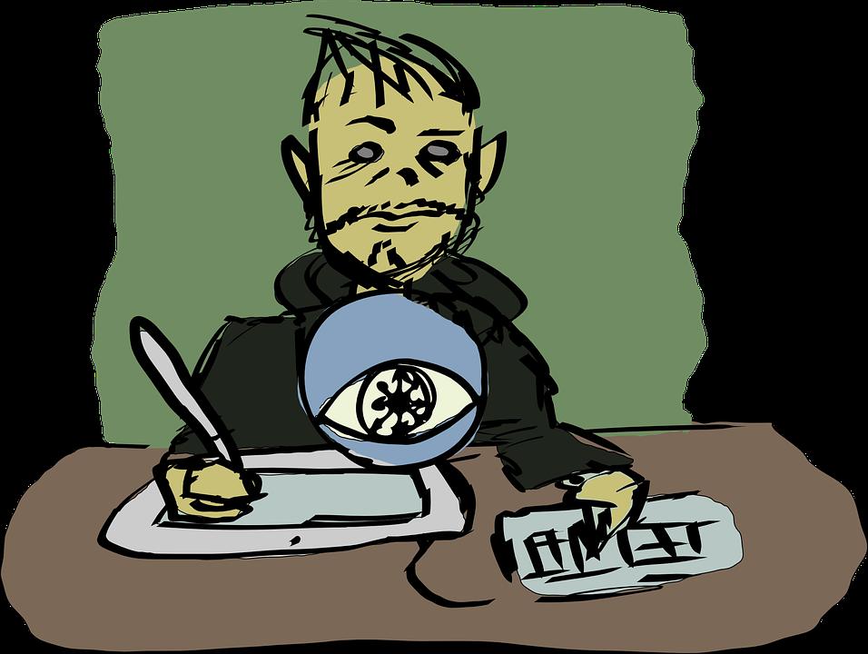 Free vector graphic: Office Job, Desk, Writer, Tablet.