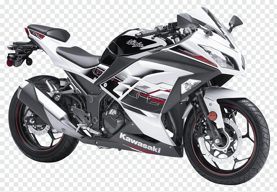 White and gray Kawasaki big bike illustration, Kawasaki.