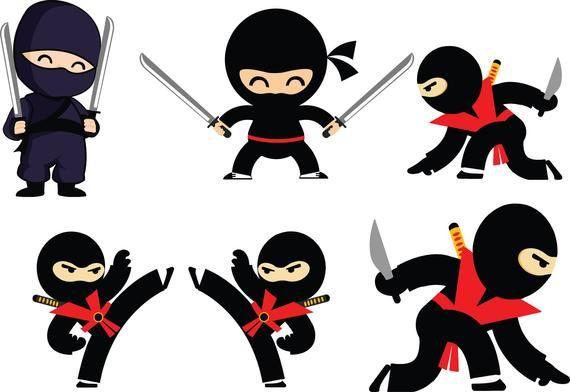 NINJA SVG FILES For Cricut, Cute Ninja Clipart Files, Ninja.