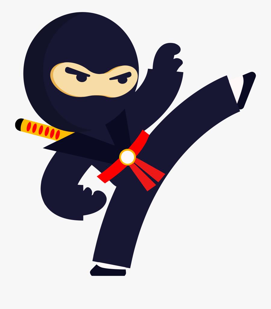 Kicking Ninja Clipart , Png Download.