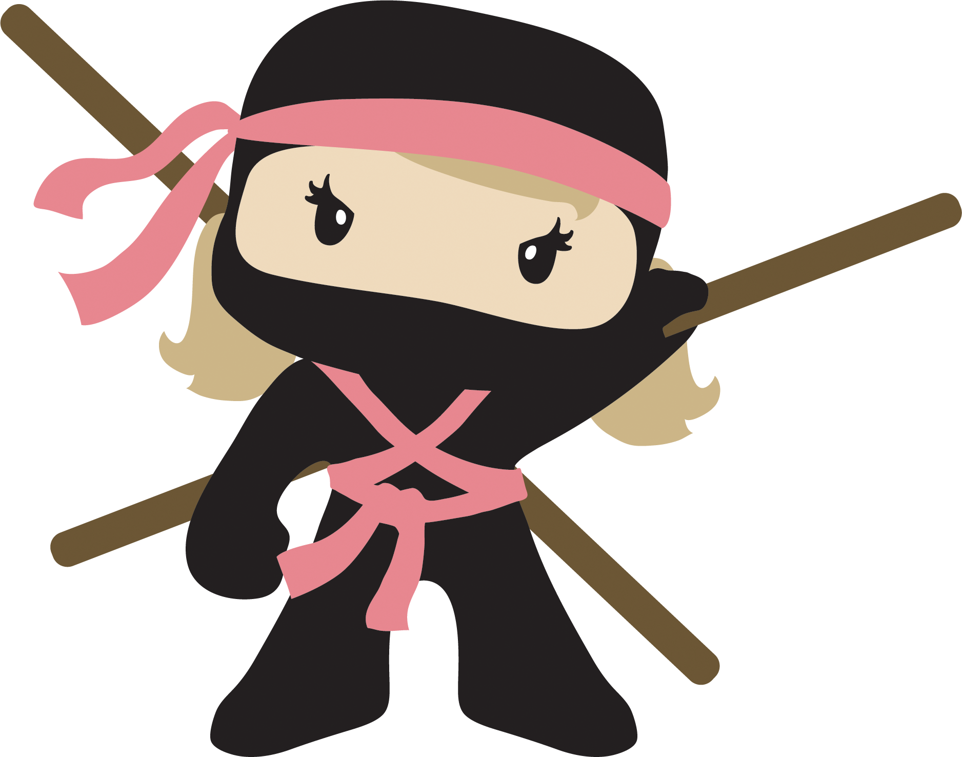 Ninja clipart two, Ninja two Transparent FREE for download.