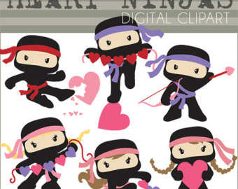 7046 Ninja free clipart.