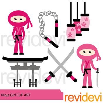 Ninja girl clip art.