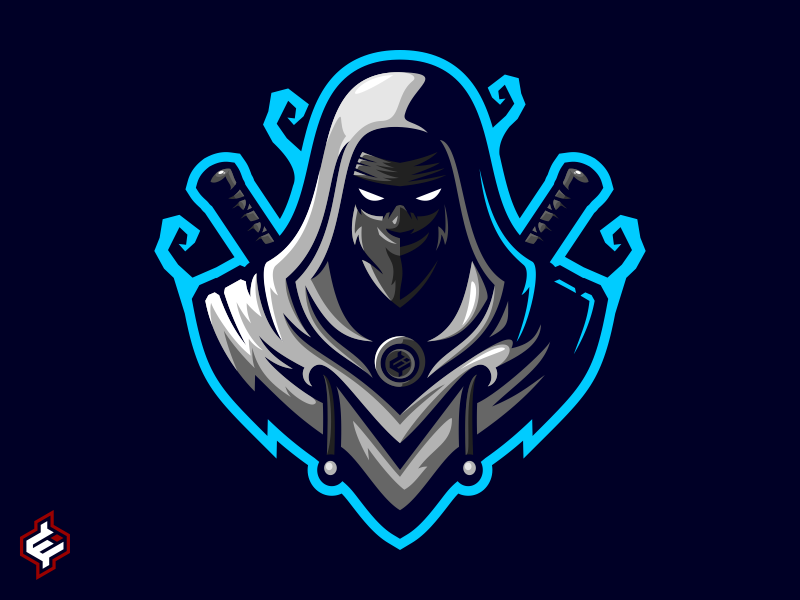 ROYALTY FREE ) Assassin / Ninja Mascot Logo Template in 2019.