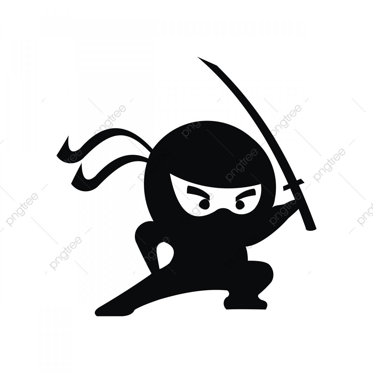 Ninja Samurai Warrior Fighter Character Cartoon Martial Art.