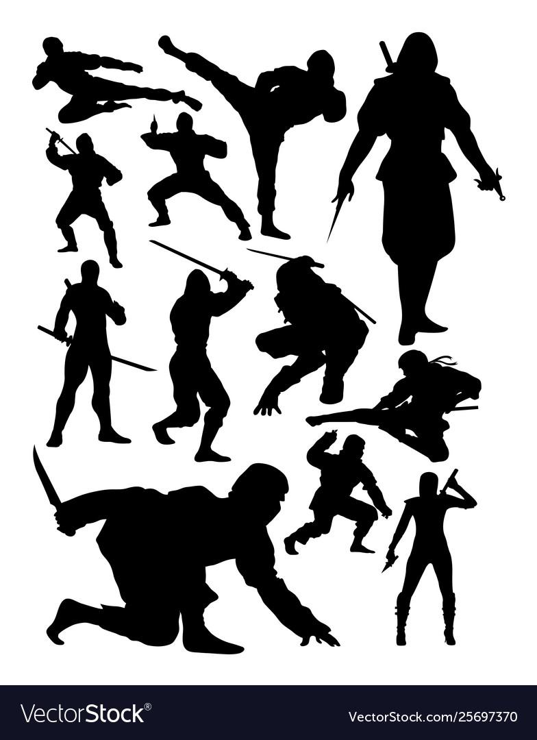 Ninja silhouette.