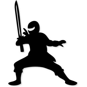 Ninja Silhouette Clip Art.