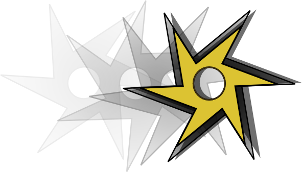 Flying ninja star clipart.