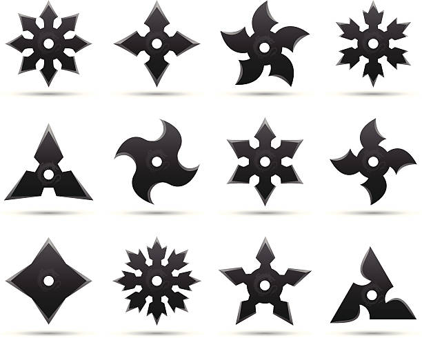 Ninja Star Clip Art, Vector Images & Illustrations.