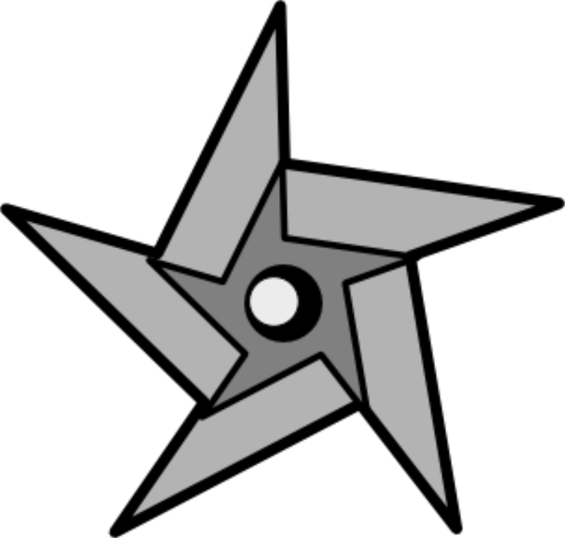Ninja Star Clip Art.