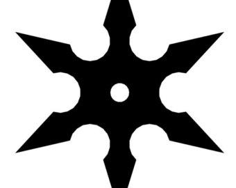 ninja star clipart clipground