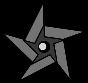 Ninja Star clip art free vector.