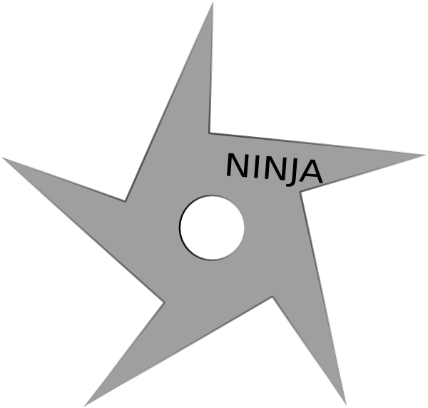 Ninja Star Clip Art at Clker.com.