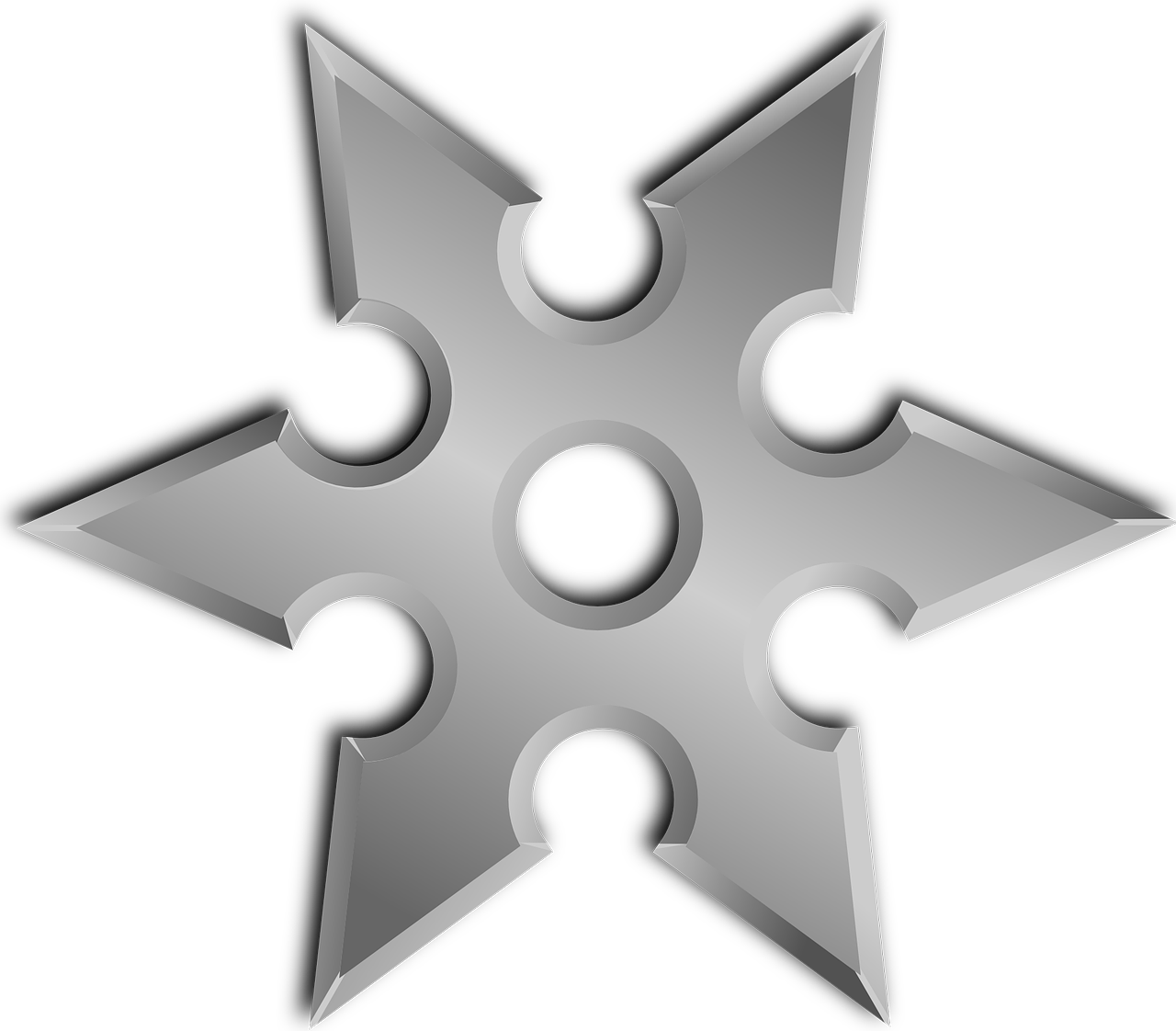 Shuriken Throwing Star Ninja Star PNG.