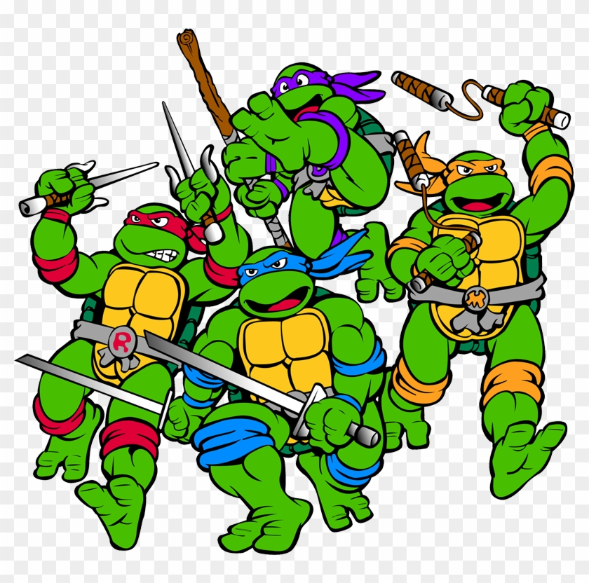 Ninja Turtles Clipart 80's.