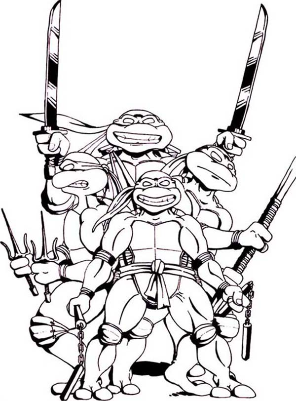 Free Ninja Turtles Black And White Images, Download Free.