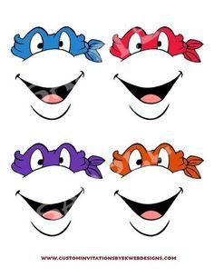 Free Printable Character Face Masks.