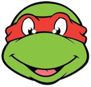 large face image of teenage ninja turtles.