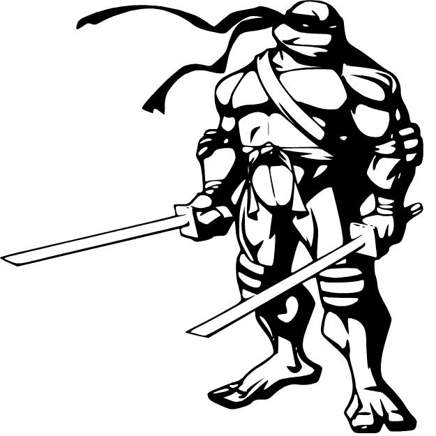 Ninja Turtle Outline.
