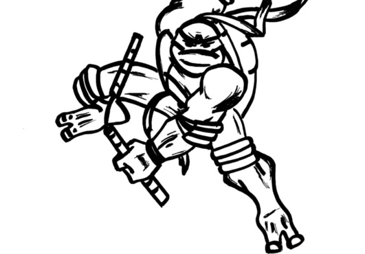 Gallery For > Ninja Turtles Clipart Black and White.