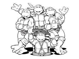 Teenage Mutant Ninja Turtle Black And White Clipart.