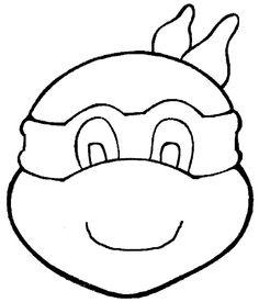 Ninja Turtle Head Template.
