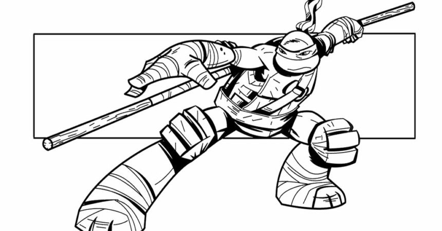 Stunning 24 Images Coloring Pages Ninja Turtles.