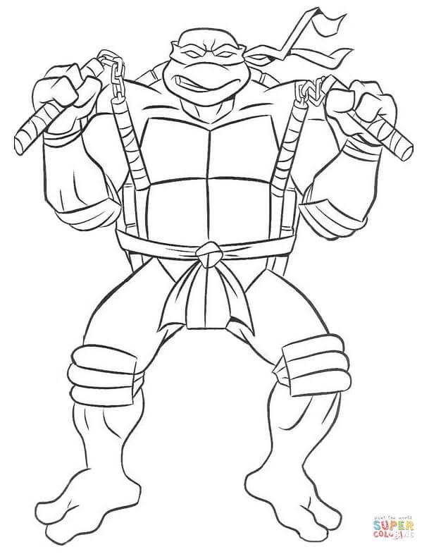 Teenage Mutant Ninja Turtles coloring pages.