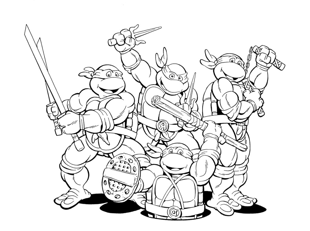 ninja turtles clipart black and white Clipground