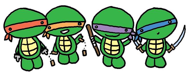 Cute Ninja Turtles Clipart.