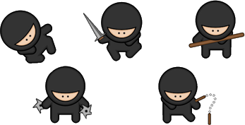 Ninja warrior clipart clipartfest.