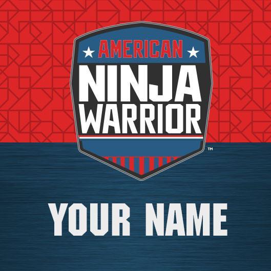 Personalized American Ninja Warrior Logo Water Bottle.