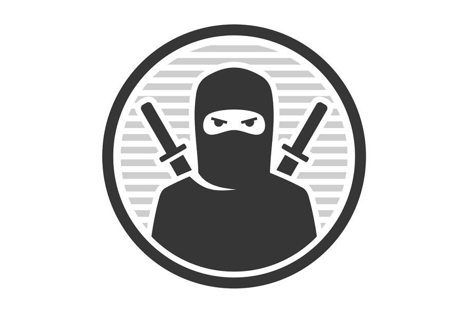 Ninja Warrior Logo Icon.