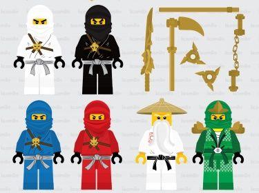 Ninjago Digital Clipart.