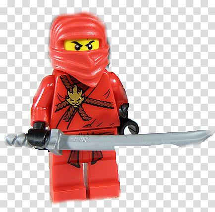 Lego ninjago kai, ninja holding sword minifig transparent.