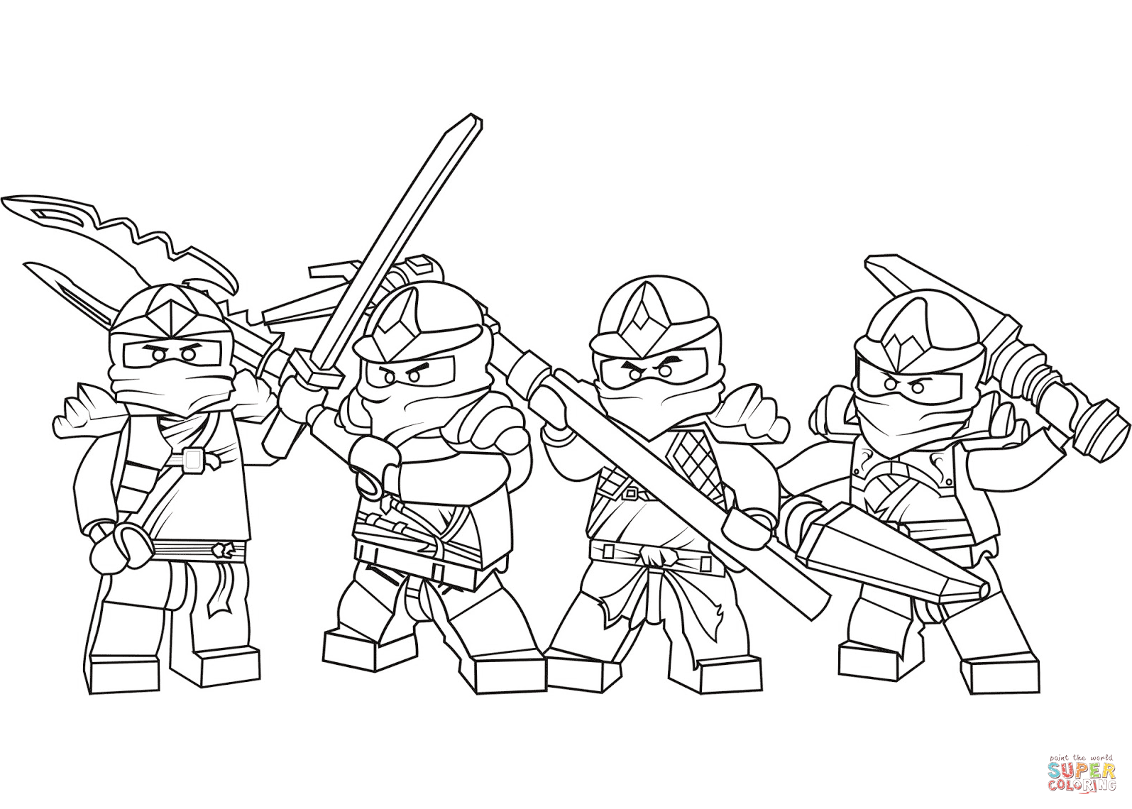 Ninjago Black And White Coloring Pages.