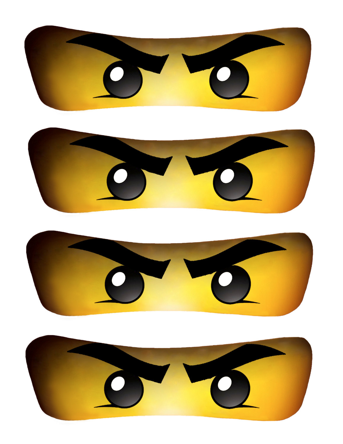 INSTANT DOWNLOAD Ninjago eyes 5 inch for Balloon by EssU50.