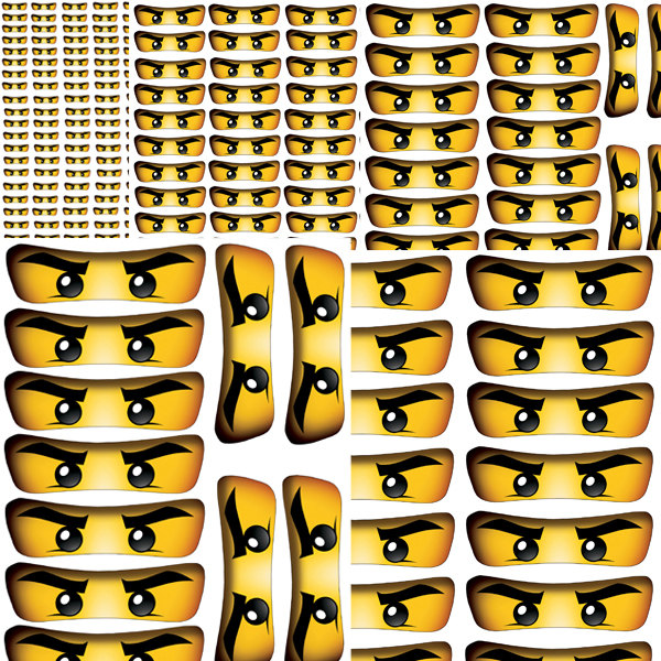 INSTANT DOWNLOAD Ninjago eyes ( 5 sizes ) , banner, wall decor.