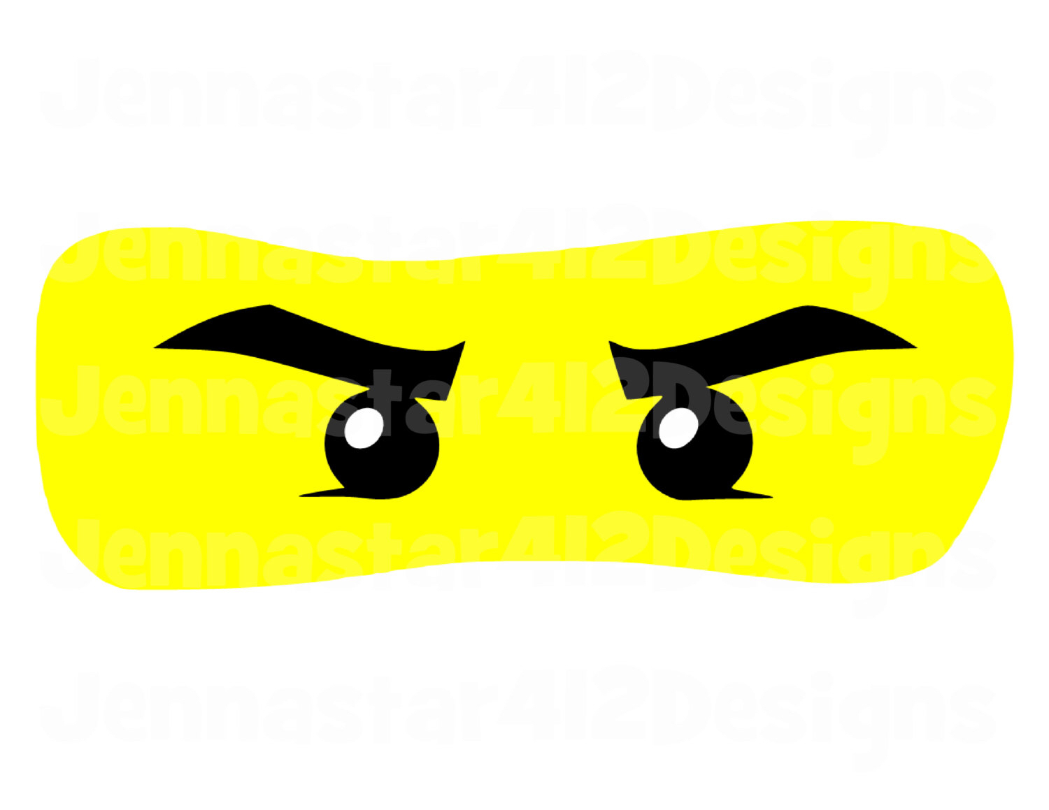 Lego Inspired Ninjago Eyes DIY Printable Iron On Transfer Digital.