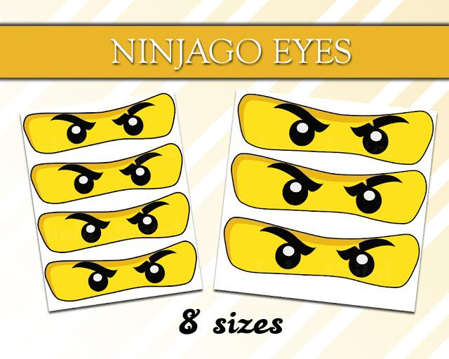 Printable NinjaGo Eyes.