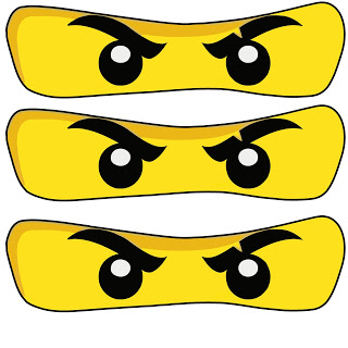 Printable NinjaGo Eyes.