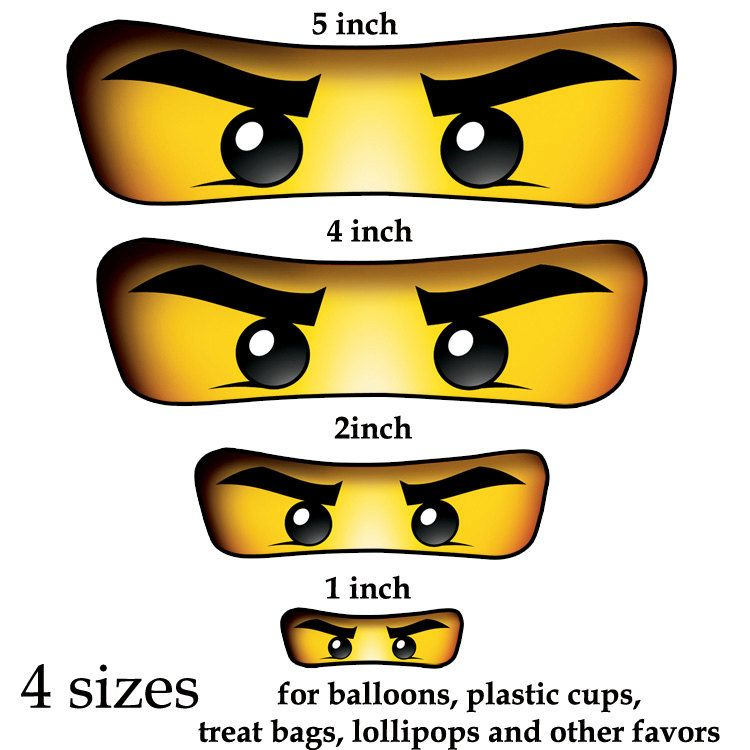 Image result for ninjago eyes free printables.