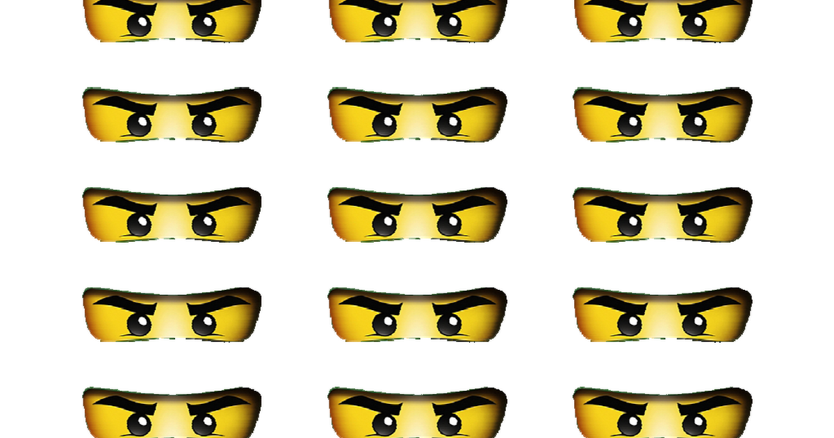 Ninjago Eyes Printable.